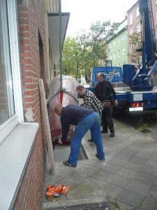 2009 Düsseldorf Wohnheim BHKW Einbringung